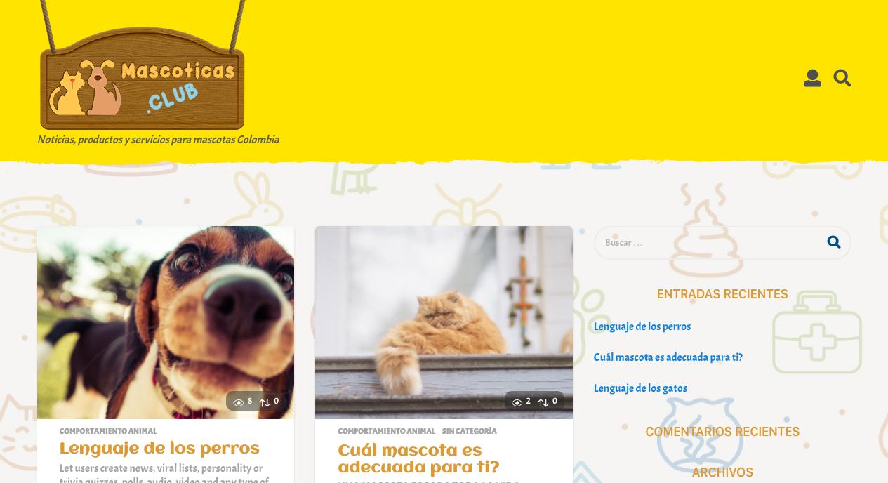 Club Mascoticas – Noticias productos y servicios para mascotas Colombia