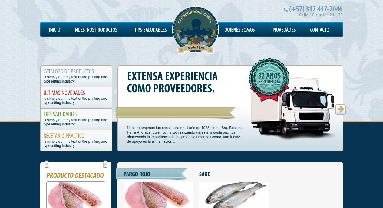 Distribuidora Coral Pescados y Mariscos de la mejor calidad